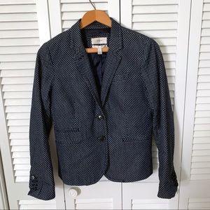 J. Crew Jackets & Coats - J.Crew School Boy Navy Polka Dot Blazer size 4